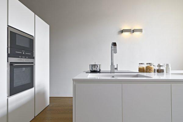 Interiors of a Modern Kitchen with Island Kitchen